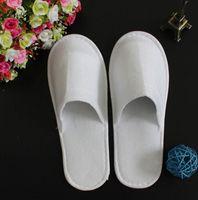heiße handtücher großhandel-Umweltfreundliche Einweg-Pantoffeln Hotels Frottier Hausschuhe EVA Slipper Männer Frauen Flip Flop White Hot Verkauf Fabrik-Preis Indoor Günstige Slipper