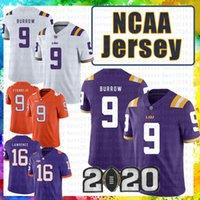 Wholesale cheap Joe Burrow LSU Tigers Jersey Clemson Trevor Lawrence Travis Etienne Jr NCAA American football Jerseys Julio Jones tom Brady