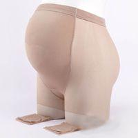Wholesale black thin leggings resale online - Pregnant Woman Invisible Stockings Ultra thin D Leggings Socks Adjust Pregnant Women Elastic Waist Large Size Anti hook