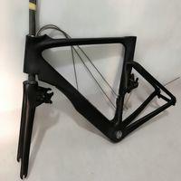 ingrosso bicicletta telaio in carbonio taiwan-Set telaio in carbonio per bicicletta mimetico + manubrio + interruzioni a V + attacco manubrio telaio in carbonio per bicicletta logo OEM 49/52/54/56/58 cm realizzato in taiwan framework