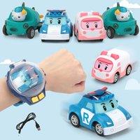 relógios baratos venda por atacado-carro Mini desenhos animados RC Pequeno Com relógio controle remoto bonito recarregável dos desenhos animados sensoriamento gravidade modelo eletrônico brinquedos para as crianças