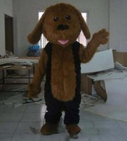 Wholesale long brown hair costume for sale - Group buy Factory Outlets Good vision good Ventilation long furry hair puppy dog mascot costume for adult to wear