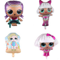 Wholesale kids toys resale online - 18inch lol Balloons Cartoon Balloons Kids Aluminium Foil Balloon Baby Shower Girl Party Room Decoration Supplies kids toys lol