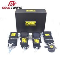 nylon schnellspanner großhandel-4 Punkte Schwarz Universal Nylon Racing Sport Quick Release OMP Autorennen Sicherheitsgurt Sicherheitsgurt Sicherheitsgurt