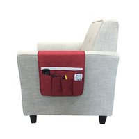 Wholesale cell phone hanging pouch for sale - Group buy Hanging Sofa Side Storage Bag Cell Phones Remote Control Holder Organizer Foldable Pockets Over Armchair Couch Storage Pouch