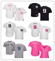yankees jerseys majestuosos al por mayor-2019 de Hombres Jóvenes de Majestic Yankees Jersey de la Mujer 9 Roger Maris Detroit béisbol niños jerseys