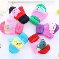 Wholesale kids gloves boys for sale - Group buy Kids Knitted Gloves Winter Warm Glove Baby Cartoon Mittens Unisex Children Boys Girls Soft Warm Gloves Style HHA712