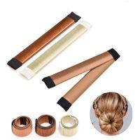 nuevo fabricante de moños para el cabello al por mayor-NUEVA Moda Mujer French Twist Hair Bun Maker DIY Hairstyling Donut Braid Accesorio
