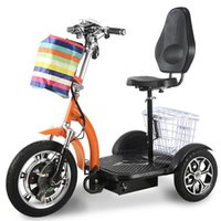 Wholesale 48v scooter batteries resale online - 3 Wheel Electric Tricycle V W Electric Scooter For Adults Elderly With Removable Battery Shopping Basket With Wheels