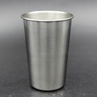 tazas de pintas al por mayor-Taza de cerveza de acero inoxidable de 16 oz Taza de cerveza de metal irrompible libre de BPA Ecológico para beber herramienta Drinkware RRA1962