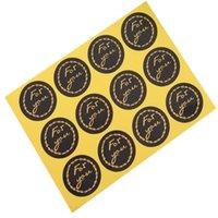 verzieren süßigkeiten-box großhandel-1200 teile / los Schwarz Für sie bronzing girlande runde selbstklebende abdichtung Label Aufkleber Geschenkbeutel Pralinenschachtel Dekorieren