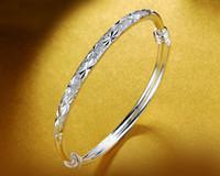 ingrosso giorni braccialetti bambino-Giorno superiore regalo di marchio di qualità della mamma le donne del nuovo S925 braccialetto in argento sterling semplici braccialetti di stile del bambino respiro argento pianura gioielli DDS0242