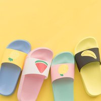 Wholesale baby girl white booties resale online - Baby cute non slip bathroom slippers big children flat sandals girls sports boys spring summer home fish mouth slippers