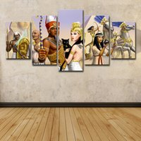 Wholesale egypt painting for sale - Group buy 5 Piece HD Printed Ancient Egypt Group Painting Canvas Print Room Decor Print Poster Picture Canvas