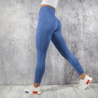 más el tamaño de leggings marrones al por mayor-Simenual Empuje hacia arriba las polainas de cintura alta mujeres ropa deportiva 2019 athleisure culturismo fruncido legging ropa de fitness deportivo jegging
