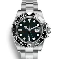 Wholesale mechanical watches online - Luxury New Gent s GMT II Automatic Watches Stainless Steel Dive Blue Red Ceramic Circle Master mm Mens Watch AAA Relogio Mens Watches