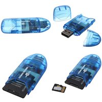 Wholesale card memories ups for sale - Group buy Multifunction USB Memory Card Reader Writer Adapter For SD MMC SDHC TF Card UP To GB Random Color