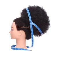 pains chignon achat en gros de-10 pouces Big Afro Puff Cordon Queue De Cheval Kinky Curly Cheveux Synthétiques Cheveux Chignon Bun Morceau Extension