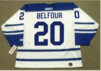 Wholesale freeshipping Mens ED BELFOUR Toronto Maple Leafs CCM Hockey Jersey or custom any name or number retro Jersey