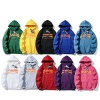 ingrosso maglione fiamma-Felpa con cappuccio stilista di marca con il logo lettera di fiamma logo felpe con cappuccio stampa di alta qualità maglione di tendenza di alta qualità Autunno Inverno felpa calda