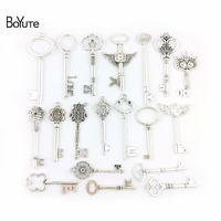 ingrosso grande chiave antica-commercio all'ingrosso Mix 19 Styles argento antico grande chiave ciondolo fai da te fatti a mano gioielli accessori all'ingrosso della fabbrica