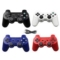 joystick bluetooth venda por atacado-Colorido Sem Fio Bluetooth Controlador de Jogo para PS3 2.4 GHz sony playstation 3 Controle Joystick Gamepad Remoto com carregador