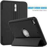 faltende plastikabdeckung großhandel-3 Schichten Schutz Smart Wallet Phone Case Kunststoff weiche TPU-Hülle für iPad 2 3 4 5 6 Samsung Tab A T580 T560