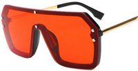 Wholesale brand women s sunglasses resale online - New cross border European and American one piece sunglasses trend square s Glasses Luxury Sunglasses Brand for Mens Women Sunglasses