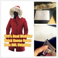 zippers canada venda por atacado-Top quality inverno para baixo parkas hoody canadá kensington real de pele de lobo jaquetas mulheres zíper designer jaqueta casaco quente ao ar livre parka