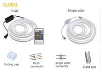 ingrosso striscia di luce flessibile cuttable-Nastro LED Neon Flex Strip Impermeabile IP68 LED Nastro 220V 110V TV Dimmer Nastro Flessibile per illuminazione esterna Tagliabile a 1 metro