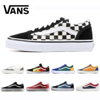 2019 Vanssneakers Original old skool fear of god men women canvas sneakers black white red blue fashion skate casual shoes