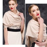 schwarzer weißer baumwollschal großhandel-15 Farben Frauen Schals 65% Wolle + 35% Baumwolle Klassischer Druck Schal Schal Frauen Seidenschal Schwarz Weiß Größe 140 * 140 cm
