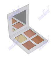 Wholesale face pack paper resale online - 4 color highlighters palettes face bronzers highlighters without logo two color team choice accept private label paper pack mm mm mm