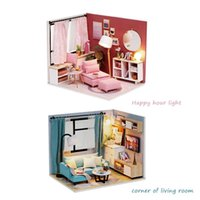 Wholesale assembly diy toys for sale - Group buy Handicraft DIY Toy Assembly Building Model Doll House Miniature Dollhouse