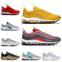4673bae419 Designer 97 Running Shoes Gym red II Mustard White Grape Rainbow black gold  White silver Men Women Trainers Sports Sneakers Size 36-45