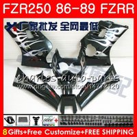 Wholesale yamaha flame resale online - Body For YAMAHA Silver flames hot FZRR FZR R FZR HM FZR250RR FZR250R FZR FZR250 Fairing