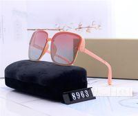 modische dame sonnenbrille großhandel-Designer Frauen großen quadratischen Rahmen Sonnenbrille Luxus Dame Sonnenbrille trendige Mode Mädchen des Lunettes de Soleil mit Fällen fahren