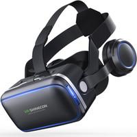 android için 3d gözlük toptan satış-iPhone Android Smartphone Akıllı Telefon Stereo için Casque VR Sanal Gerçeklik Gözlük 3 D 3D Gözlükler Kulaklık Kask