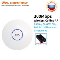 wifi anteni oluştur toptan satış-COMFAST 300 Mbps kablosuz Tavan AP QCA9531 wifi yönlendirici desteği Çok SSID 48 V POE OpenWRT Erişim Noktası AP dahili anten wifi
