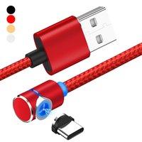 magnetisches usb-kabel großhandel-3 in 1 Magnetkabel 2.4A Schnellladegerät Micro USB Typ C Telefonkabel für Samsung Huawei Android