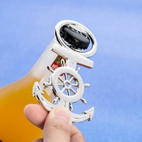 Sea Theme indian wedding favors for guests souvenirs Nautical Anchor Rudder Metal Beer Bottle opener 50pcs wholesale