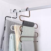 neue typen hemden großhandel-New Kleiderschrank Lagerung S Type-Hosen-Hose Aufhänger multi Schichten Edelstahl Kleidung Handtuch Storage Rack Closet Space Saver