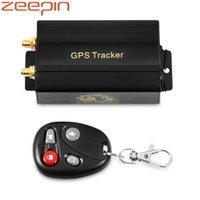 dispositivo antirrobo de alarma de coche al por mayor-GPS Tracker TK103B Dispositivo de seguimiento de automóviles GPS GSM GPRS Localizador de vehículos con control remoto Sistema de alarma antirrobo para automóviles