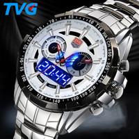 tvg saatleri toptan satış-En Erkekler Saatler TVG Erkekler Spor Saatler Moda Suya Ordu İzle Paslanmaz Çelik Bilek İzle reloj hombre