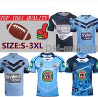 blaue rugby-trikots großhandel-2019 NSW BLUES STARTSEITE PRO JERSEY NSW URSPRUNGS-Rugby-Trikots 19 20 TRAININGS-SINGLET NSW SOO 2018 RUGBY JERSEY Thailand Qualität