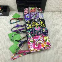 bolsos con cremallera bolsos al por mayor-Diseñador de la marca Monederos VB Zip ID Estuche Carteras florales con cordón Ranuras para tarjetas de crédito Ranuras para bolsos pastorales retro Bolsas para monedas Bolsa C72707