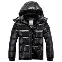 классический мужской пуховик оптовых-Классическая мода Мужчины Женщины Повседневная пуховик Майя вниз пальто мужская открытый теплый перо платье человек зимние пальто верхняя одежда куртки парки F0072A6