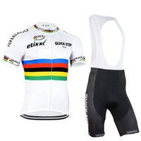 Wholesale cycling jersey set quick step resale online - 2020 Quick Step Team Cycling Short Sleeves Jersey bib shorts Sets Men Mountain Bike Clothing Breathable Bicycle Wear f