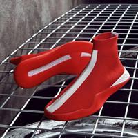 koreanische männliche hip-hop-mode großhandel-19 Jahre am explosivsten Stretch-Socke Schuhe männlich hohe Hip-Hop-Schuhe koreanische Mode lässig Strickschuhe Sommer Persönlichkeit lässig Luxus-Clo