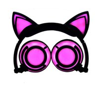 ingrosso sony lampeggia-Cuffie Hot Cat Ear LED Cuffie auricolari per cuffie cat Cuffie per adulti e bambini